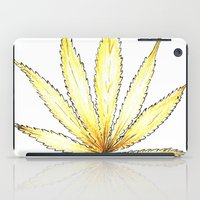 cannabis iPad Cases featuring Golden Cannabis by  Can Encin