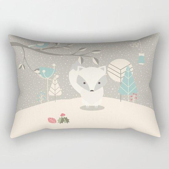 Christmas baby fox 07 Rectangular Pillow