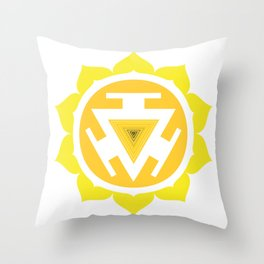 Solar Plexis Chakra Throw Pillow
