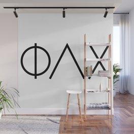Modern Phi Lambda Chi Letters Wall Mural