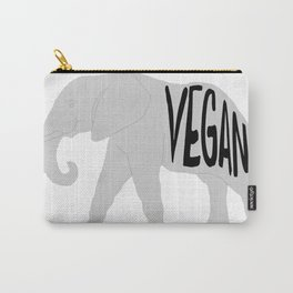 vegan (elephant)  Carry-All Pouch