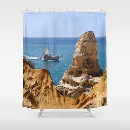 Algar Seco, Praia do Carvoeiro, Portugal Shower Curtain
