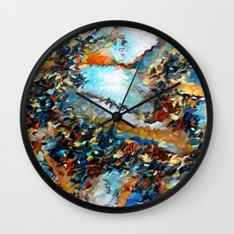 Agate Geode Abstract Wall Clock