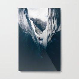 Walls of Ice Metal Print