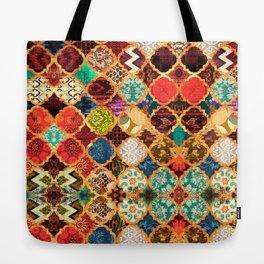 -A32- Epic Colored Traditional Moroccan Artwork. Tote Bag
