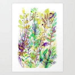 Leaves texture 02 Art Print