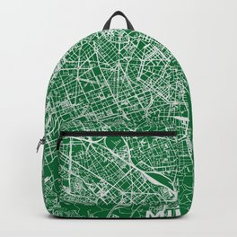 Milan, Italy street map Backpack