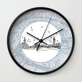 Venezia (Venice), Italy, Europe City Skyline Illustration Drawing Wall Clock