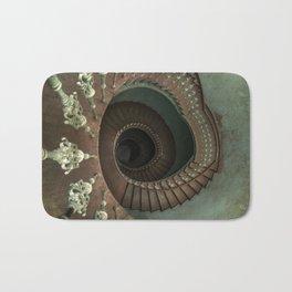Ornamented spiral staircase Bath Mat