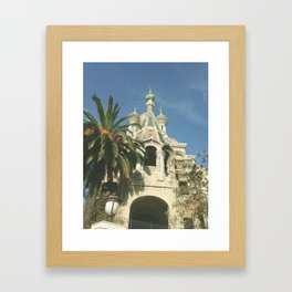 Russian orthodox church Framed Art Print