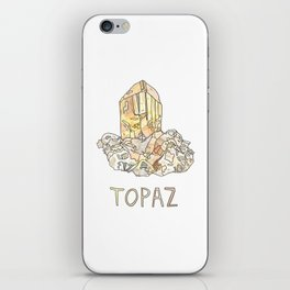 Topaz Gemstone / November Birthstone Watercolor Painting / Illustration iPhone Skin