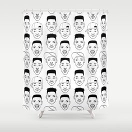 Heads - Will (B&W) Shower Curtain