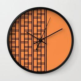 Clink Orange Wall Clock