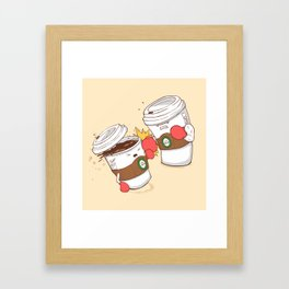 Strong Coffee Framed Art Print