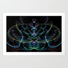 Digital Lotus Flower Art Print