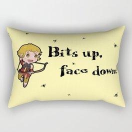 Bits up, face down! Sera Rectangular Pillow