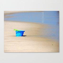 Little Blue Bucket Canvas Print