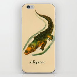 A is for Alligator iPhone Skin