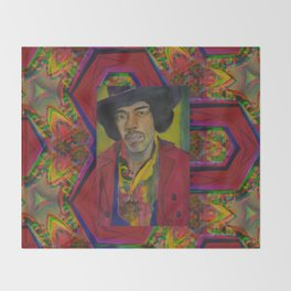 Jimi Hendrix Throw Blanket