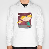 hey arnold Hoodies featuring Arnold by Maria Jose Da Luz