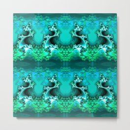 Here be Dragons (emerald green) Metal Print