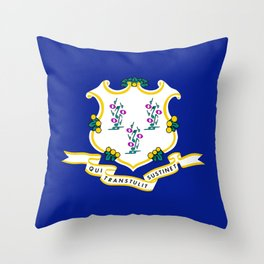 Musical State Flag of Connecticut Throw Pillow