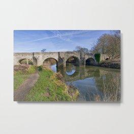 Teston Bridge Metal Print