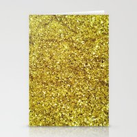 gold glitter Stationery Cards featuring GOLD GLITTER by N A T