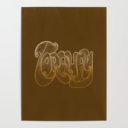 Torquay Typography - Warm Sand Poster