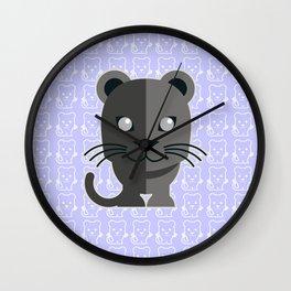 oneechan no kuro neko black cat kitten panther Wall Clock