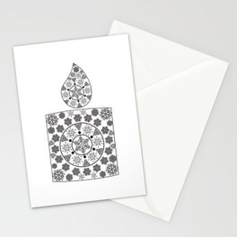Candle of snowflakes Stationery Cards