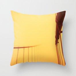 Golden - Golden Gate Bridge Throw Pillow