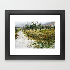 path to the beach Framed Art Print