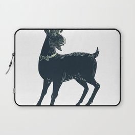 The Goat Wearing Bow Tie Scratchboard Laptop Sleeve