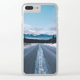 Icefields Parkway, AB II Clear iPhone Case