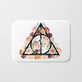 Watercolor Deathly Hallows Bath Mat