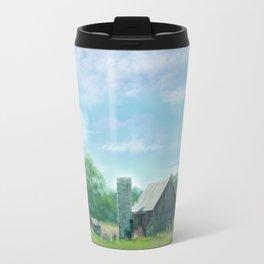 Farmstead Under Blue Skies Travel Mug