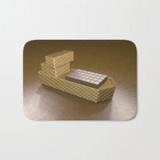 Chocolate Ship - 3D Art Bath Mat