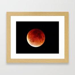 Super Moon Eclipse 2015 (Blood Moon) Framed Art Print