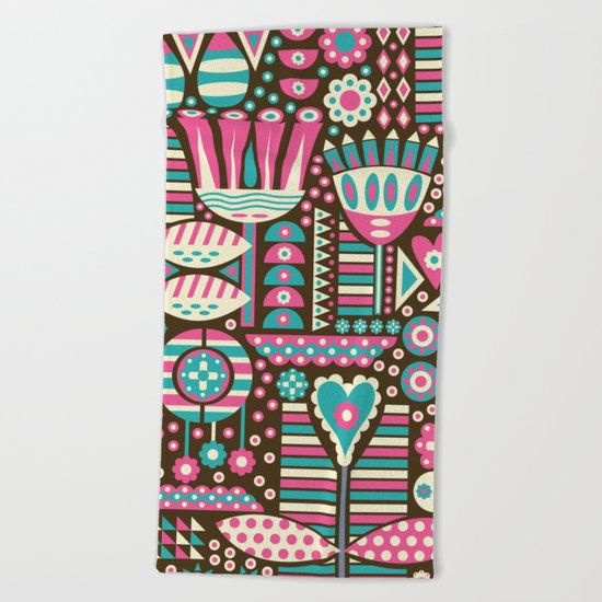 FLORAL PATTERNS Beach Towel