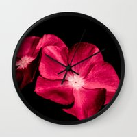 ruby Wall Clocks featuring Ruby by Loredana