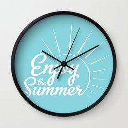 Enjoy the summer Wall Clock