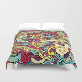 Colorful Hippie Swirl Pattern 2 Duvet Cover