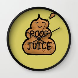 Poop Juice Wall Clock