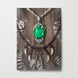 Kileanna's Necklace Metal Print