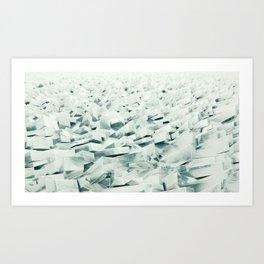 Frozen Shore Art Print