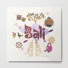 Drawings from Bali Metal Print