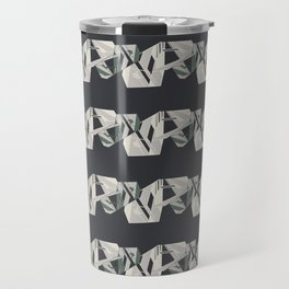 Dark Grey Geometric Travel Mug