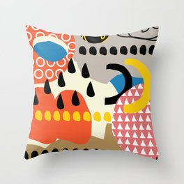 The sorcery of color n° 1 Throw Pillow