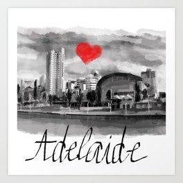 I love Adelaide Art Print